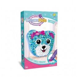 Set creatie perna pentru copii, Dream Kids, Ursulet