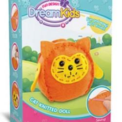 Set creatie perna pentru copii Model 2, Dream Kids, Pisica