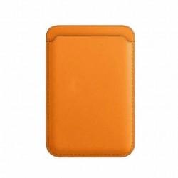 Portofel Flippy MagSafe piele pentru carduri compatibil cu Apple iPhone 12/12 Mini/12 Pro/12 Pro Max,Portocaliu