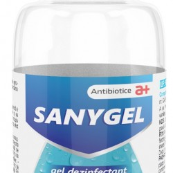 Gel dezinfectant pentru maini pe baza de etanol denaturat, Sanygel, 100 ml