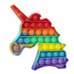 Jucarie Pop it Now & Flip it, Push Bubble Unicorn Multicolor Model 5