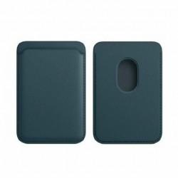 Portofel Flippy MagSafe piele pentru carduri compatibil cu Apple iPhone 12/12 Mini/12 Pro/12 Pro Max, Albastru inchis