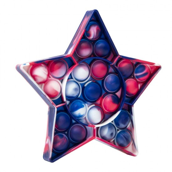 Jucarie Pop it Now & Flip it, Push Bubble Stea Multicolor