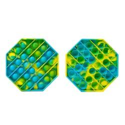Jucarie Pop it Now & Flip it, Push Bubble Hexagon Multicolor