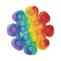Jucarie Pop it Now & Flip it, Push Bubble Floare Multicolor