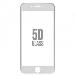 Folie Sticla Apple iPhone 8 4D/5D Alb