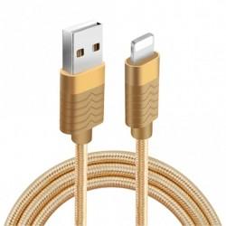 Cablu date Fineblue F-C7 MicroUSB Auriu 1 m