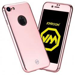 Husa Apple iPhone 6+/6S+ Joyroom (Fata + Spate) Roz Auriu + Folie de protectie