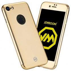 Husa Apple iPhone 6+/6S+ Joyroom (Fata + Spate) Auriu + Folie de protectie
