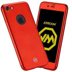 Husa Apple iPhone 6+/6S+ Joyroom (Fata + Spate) Rosu + Folie de protectie