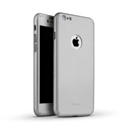 Husa Apple iPhone 7 Joyroom (Fata + Spate) Argintiu + Folie de protectie