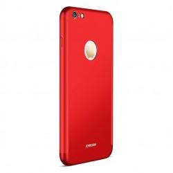 Husa Apple iPhone 6/6S 6 Joyroom (Fata + Spate) Rosu + Folie de protectie