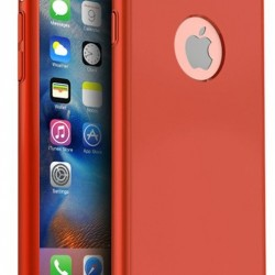 Husa Apple iPhone 6/6S IPAKY Full Cover 360 Rosu + Folie Cadou