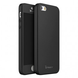 Husa Apple  iPhone 5/5S/SE IPAKY Full Cover 360 Negru + Folie Cadou