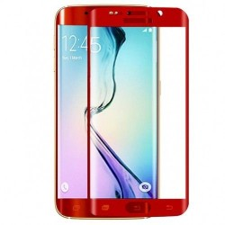 Folie Silicon Curbata Samsung Galaxy S6 Edge Rosu