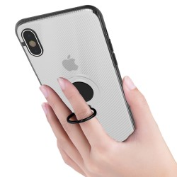 Husa Apple iPhone 6 Armor Ring cu inel magnetic Transparent