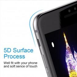 Folie Sticla Apple iPhone 8 Plus 5D Negru