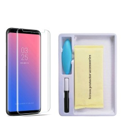 Folie Sticla Samsung Galaxy S8 Full Glue Nano Water Transparent