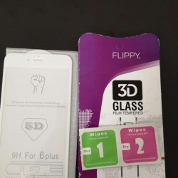 Folie Sticla Apple iPhone 6 Plus Flippy® 4D/5D Alb