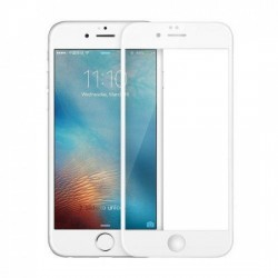 Folie Sticla Apple iPhone 6/6S Full Face Alb