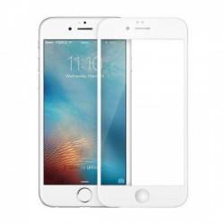 Folie Sticla Apple iPhone 6 Plus Full Face Alb