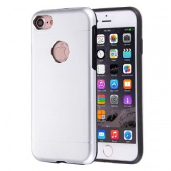 Husa Apple iPhone 5/5S/5SE Motomo V2 Argintiu