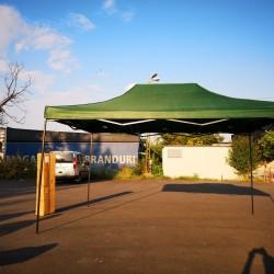 Cort Pavilion 3x4.5m Verde Pliabil Cadru Metal pentru Curte, Gradina, Evenimente