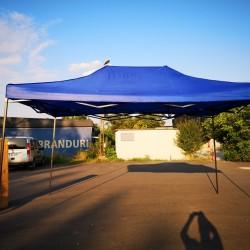 Cort Pavilion 3x4.5m Albastru Pliabil Cadru Metal pentru Curte, Gradina, Evenimente