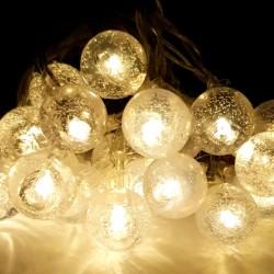 Instalatie de Craciun cu Baterii Fir Transparent Tip Sir 2.5 m 20 LED -uri Globuri Transparent Alb Cald