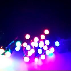 Instalatie de Craciun cu Baterii Fir Negru Tip Sir 4.5 m 50 LED -uri Multicolor