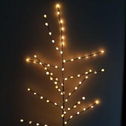 Decoratiune Luminoasa Crenguta cu Baterii 72 LED -uri Glob Alb Cald