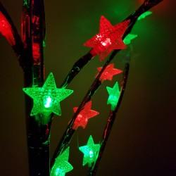 Decoratiune Luminoasa Crenguta cu Baterii 72 LED -uri Stelute Multicolor