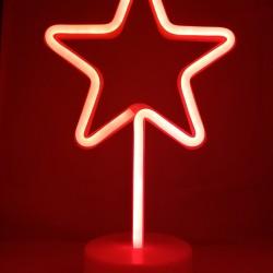 Decoratiune Luminoasa cu Baterii Stea Rosu