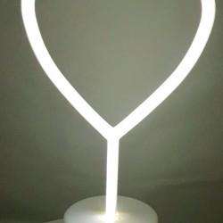 Decoratiune Luminoasa cu Baterii Inima Alb Rece