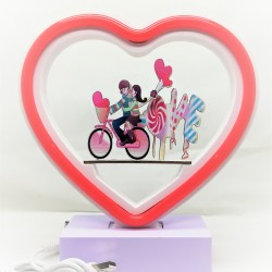 Decoratiune Luminoasa cu Baterii Neon Love 20 cm Rosu