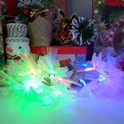Instalatie de Craciun cu Baterii 20 LED -uri Fibra Optica Flori Alb
