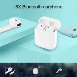 Casti Wireless Bluetooth MKJ-I8X Earbuds Flippy, Alb