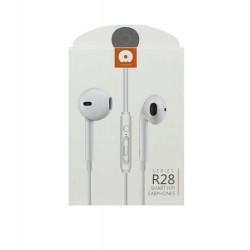 Casti Audio cu Microfon si cu Port Jack 3,5 mm WUW-R28 Flippy Blister, Alb