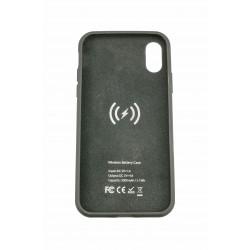 Acumulator extern iFans Battery Case 3000 mAh Wireless pentru Apple iPhone X, Negru