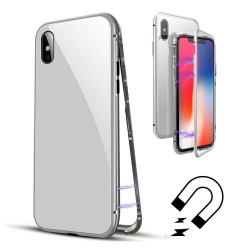 Husa Apple iPhone XS Max Magnetic 360, Argintiu