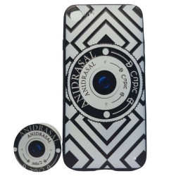 Husa Apple iPhone 6 Plus/6S Plus Multicolor Model Camera Foto + Popsocket inclus