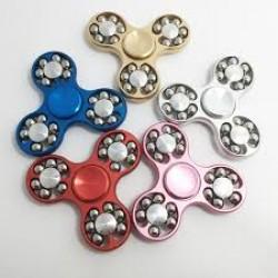 Fidget Spinner 18 Balls, Argintiu