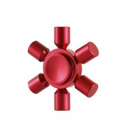 6 Heads Lite Spinner Rosu