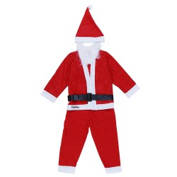 Costum Mos Craciun Flippy® Baiat, 1-3 ani, 5 piese, Polar