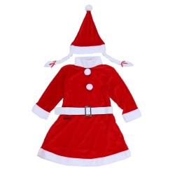 Costum Craciunita Flippy® Fata, 4-6 ani, 3 piese, Catifea