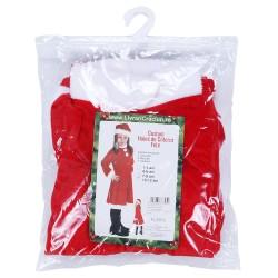 Costum Craciunita Flippy® Fata, 7-9 ani, 3 piese, Catifea