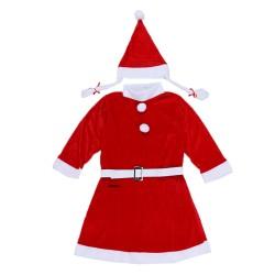 Costum Craciunita Flippy® Fata, 10-12 ani, 3 piese, Catifea