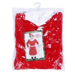 Costum Craciunita Flippy® Femeie, Adult, 3 piese, Catifea
