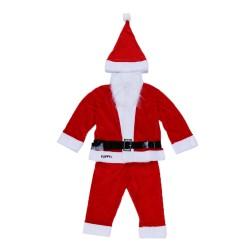 Costum Mos Craciun Flippy® Baiat, 1-3 ani, 5 piese, Catifea