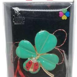 Martisor Brosa Multicolora V3 Trifoi- Gargarita 6cm x 8cm